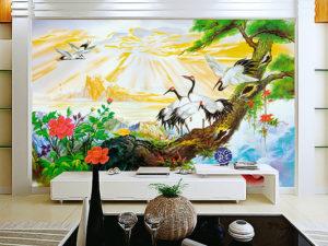 Tranh dán tường Phong Thủy